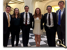 enlarged photo of Rachel Serafin with fellow students