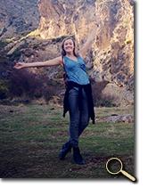 enlarged photo of Sara Giska in Spain's Sierra Nevada