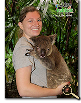 enlarged photo of Olivia Wetsch and koala