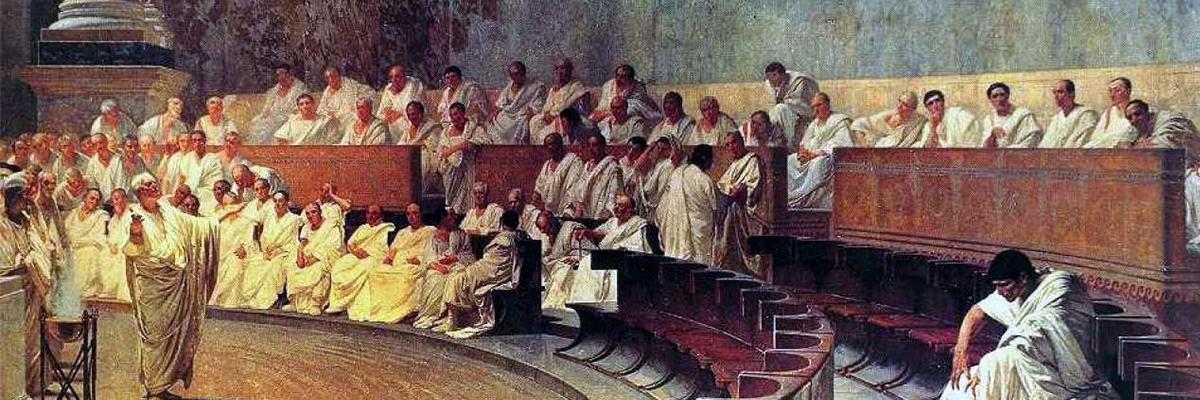 painting of ciccero in roman senate