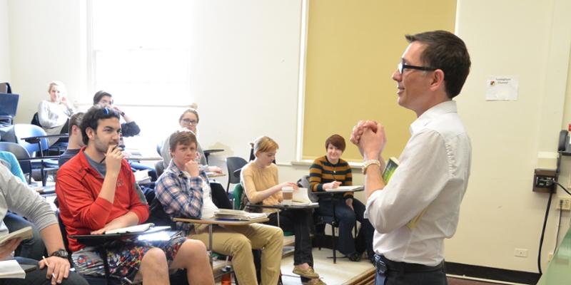 Professor Jody Bates and classroom