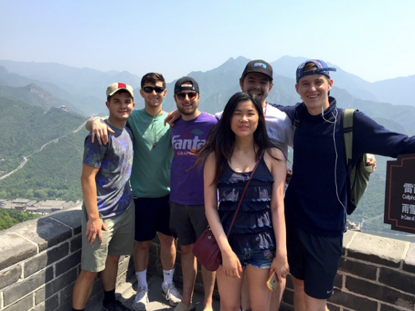 Students at the Great Wall