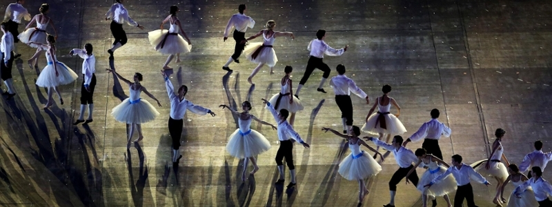 A russian ballet performs.
