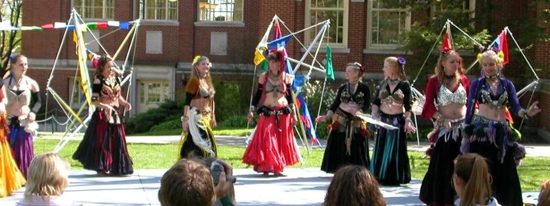Belly dancers at Silk Road presentation.