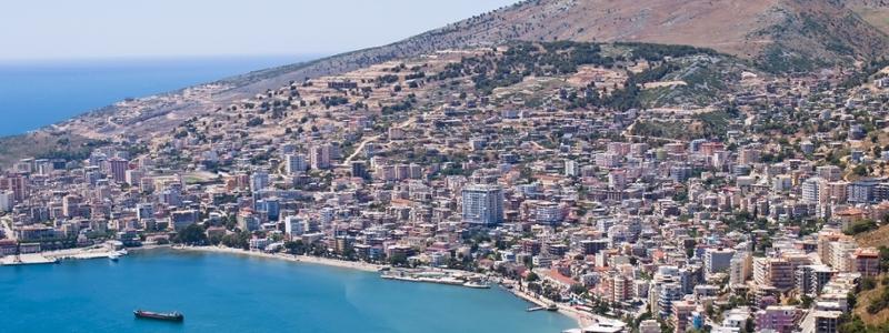 The coast of Albania.