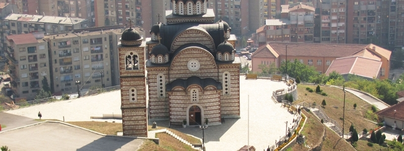 Church in downtown Kosovo.