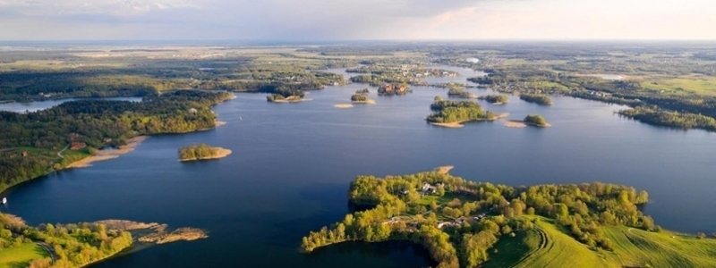 Lake landscape in Lithuania.