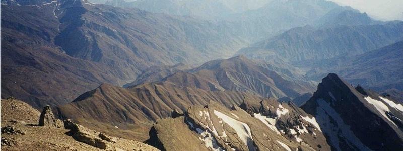 Mountain tops of tajikistan.