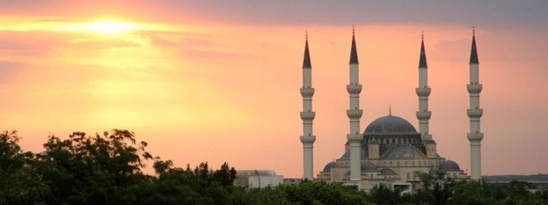 A mosque in Turkmenistan.
