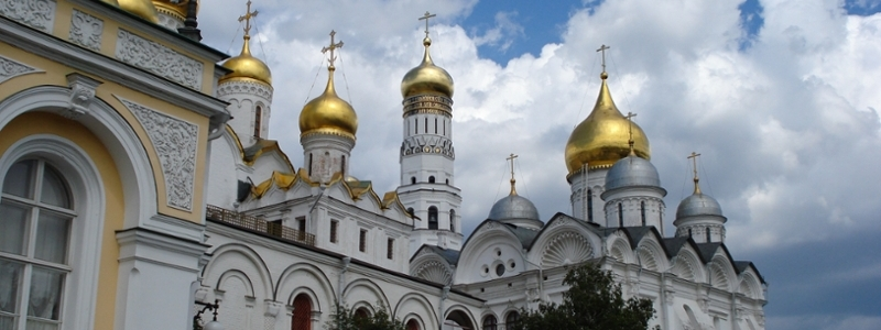 The Kremlin cathedrals.
