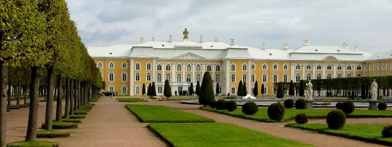 A castle in St. Petersburg.