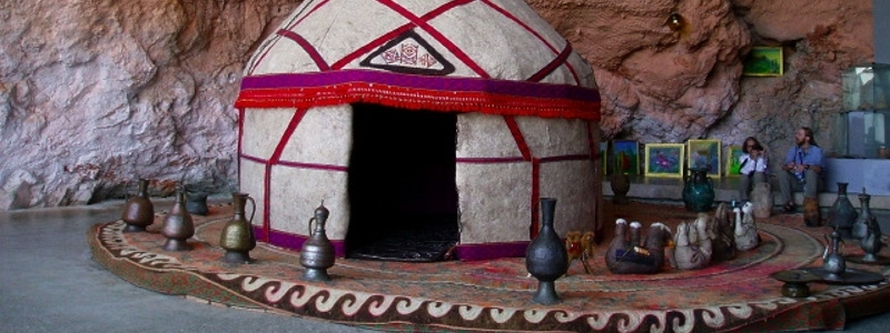 A traditional hut used once during the silk road trade route.