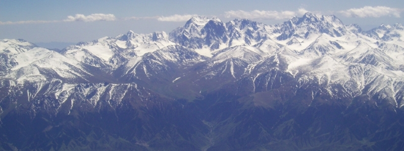 The mountains found among the silk road trade route.