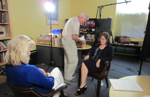Frontline interview session being set up with Dr. Dawisha.