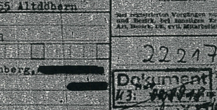 Picture of black and white Stasi document.