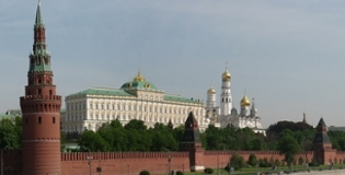 A landscape of the Kremlin.