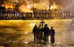 Orthodox Priests at a protest