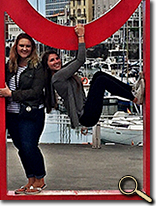 enlarged photo of Carmen Black and friends in Gijon, Spain