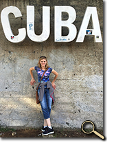 enlarged photo of Allie Shea in Cuba