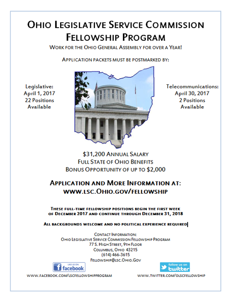 Ohio Legislative Service Commission Fellowship Program