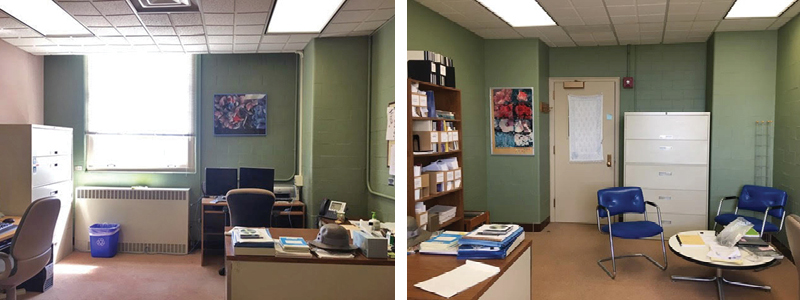 Before:  Room 382 office