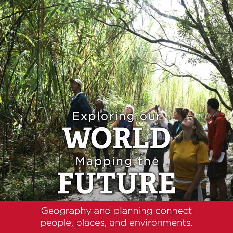 Exploring Our World, Mapping the Future, Geography and planning connect people places, and environments