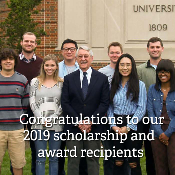 Congratulations to our 2019 scholarship and award recipients