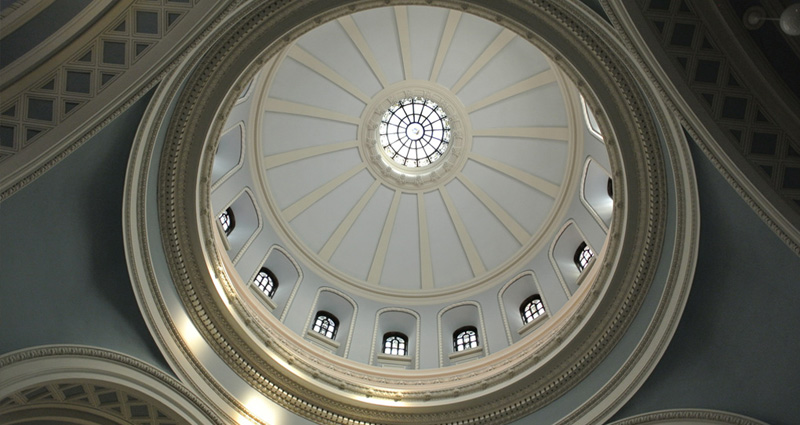 The dome of Alumni Hall