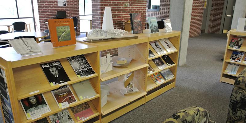 low bookshelves in Wertz library