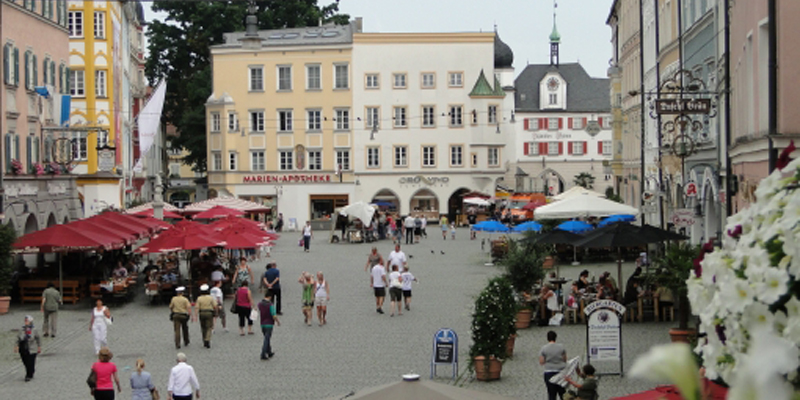 A street market in Rosenheim