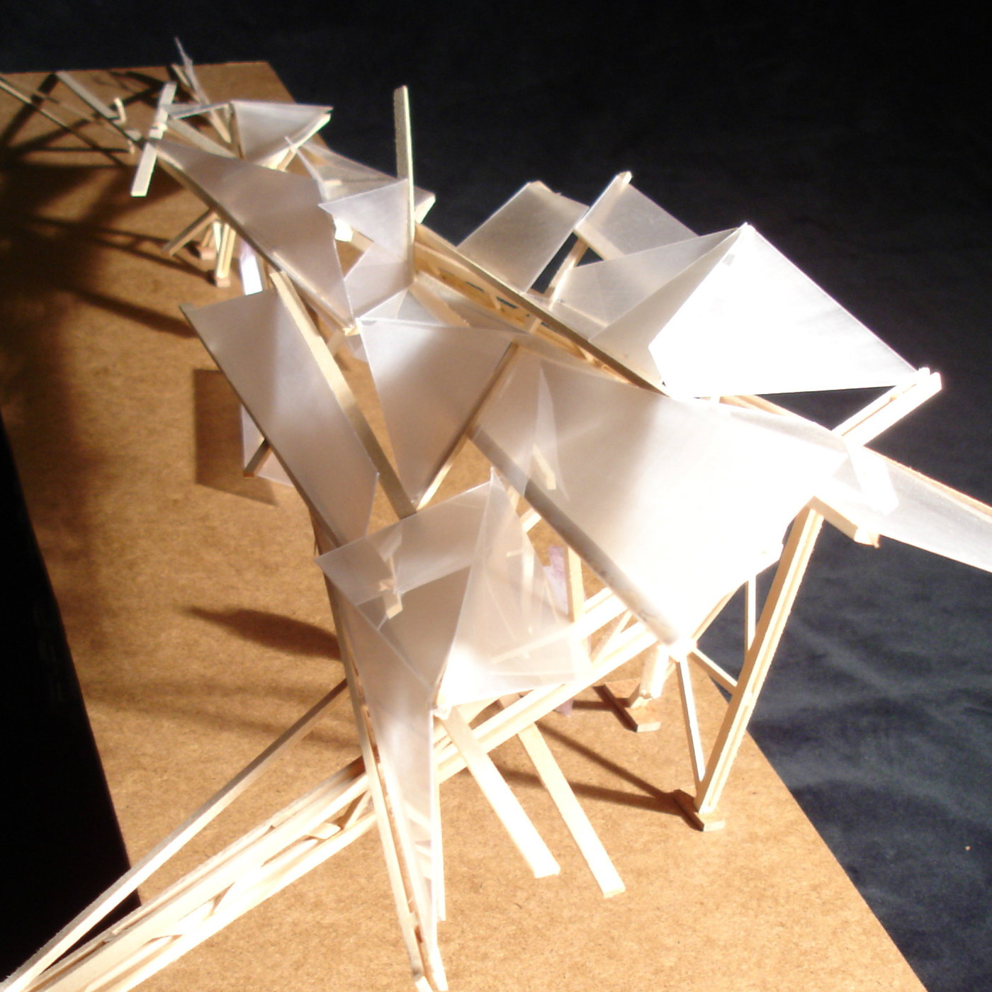 model of a roof structure