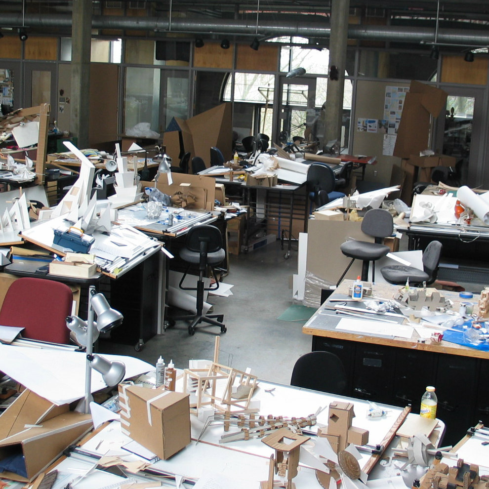 desks in first year studio