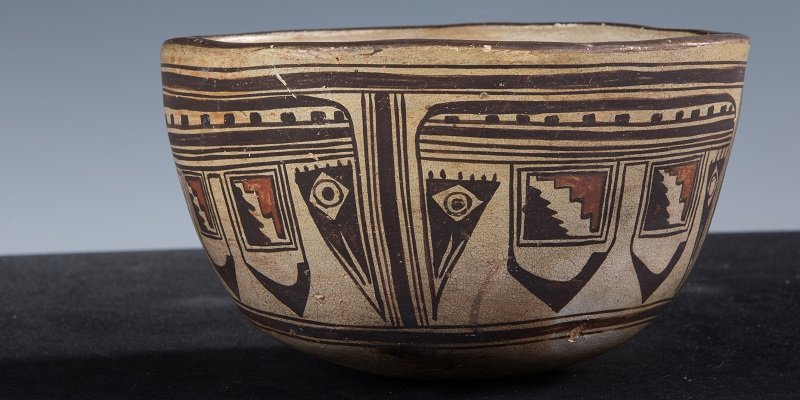 A native ceramic pot featured on the virtual museum site