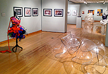 Capstone exhibit in Hiestand Gallery, 2014