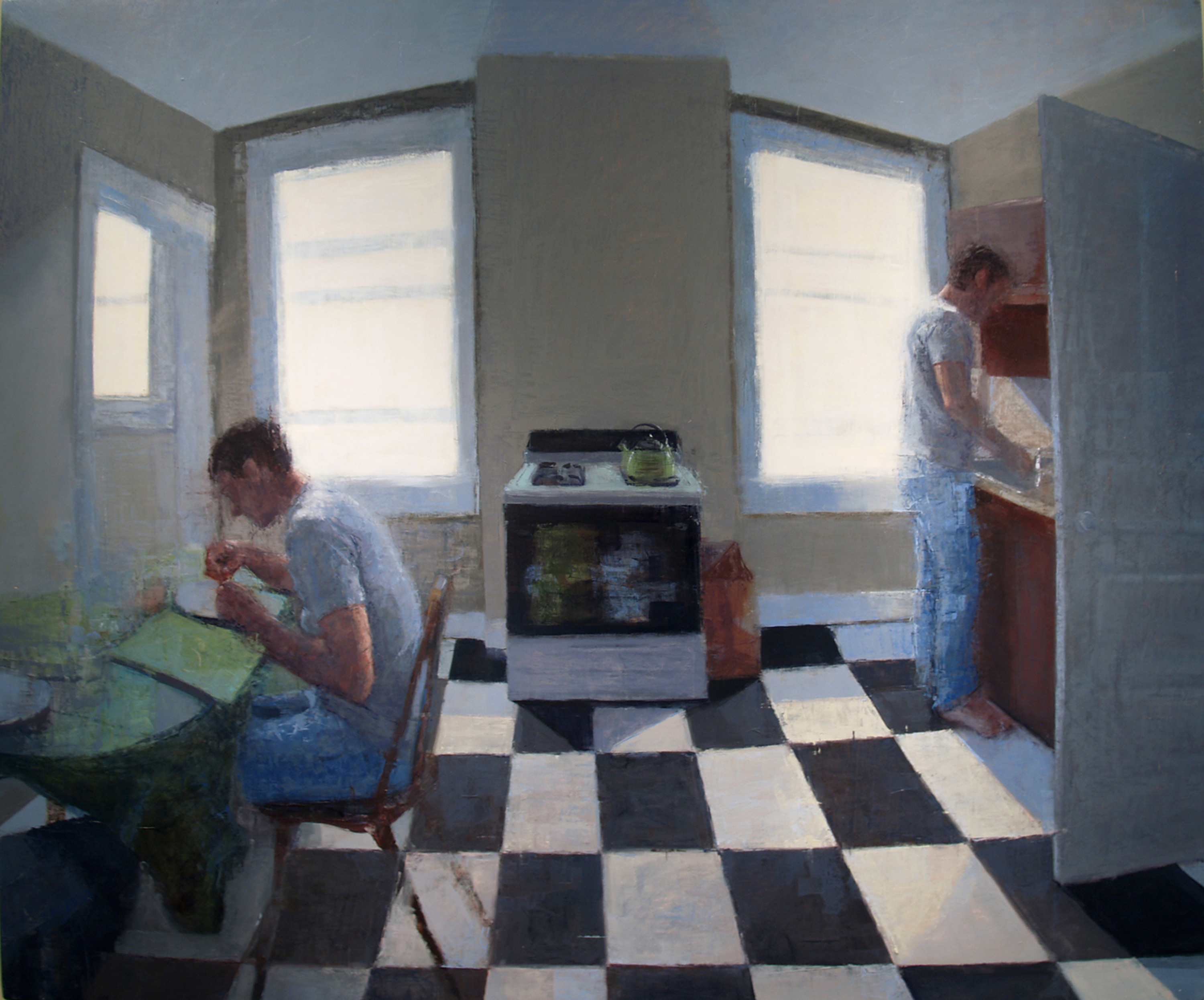 A painting of a kitchen scene from a past Young Painters competition