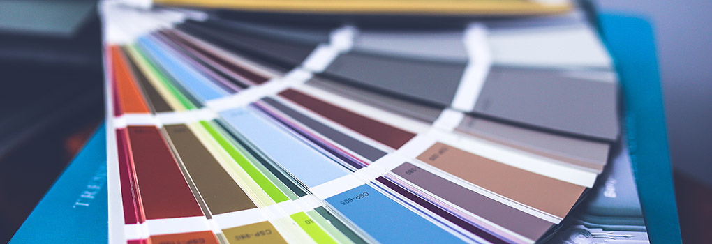A Pantone book is fanned out