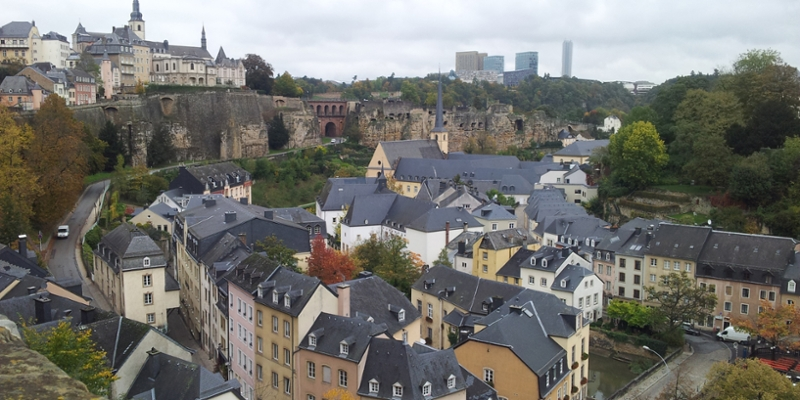 Luxembourg town and countryside