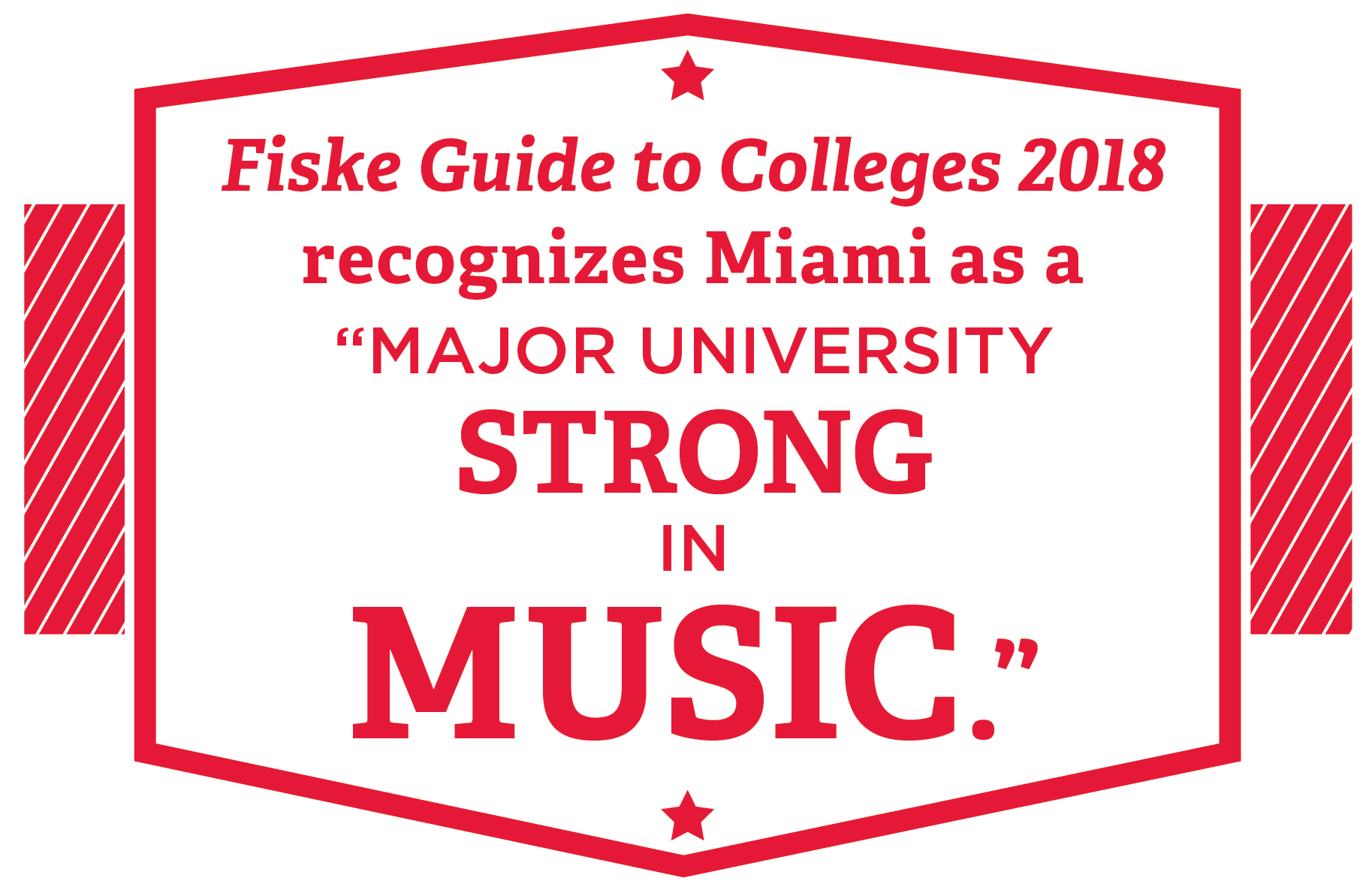 Fiske Guide to Colleges 2018 recognizes Miami as a Major University strong in music