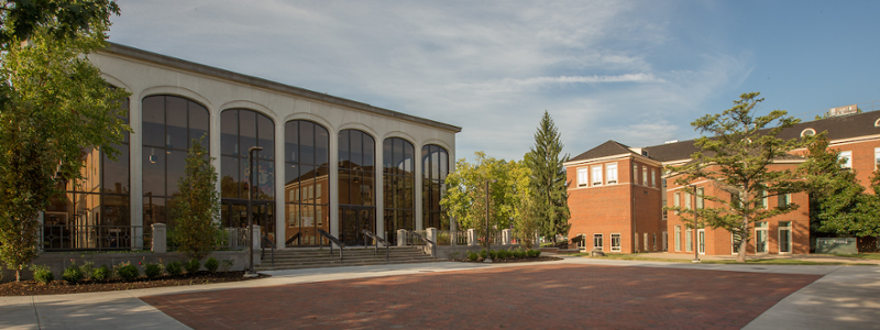 Exterior of CPA and Hiestand Hall