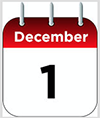 Calendar displaying December 1 date