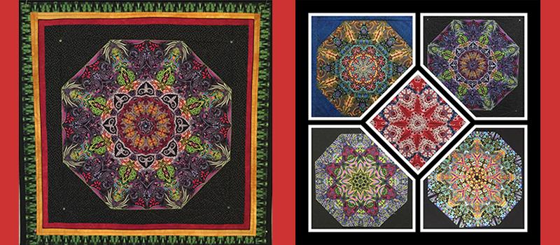 Two colorful mandalas by Ms. Kramer