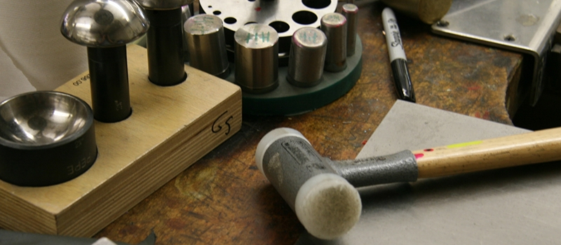 Hammers and stamps for metalwork