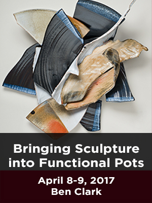 Bringing Sculpture into Functional Pots. April 8-9, 2017. Ben Clark