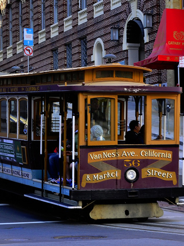 A famous San Francisco Cable Car