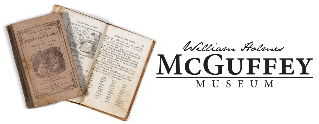 McGuffey Readers next to the William Holmes McGuffey Museum wordmark