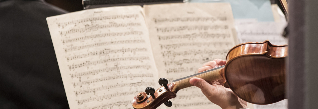 Music on a first violinist