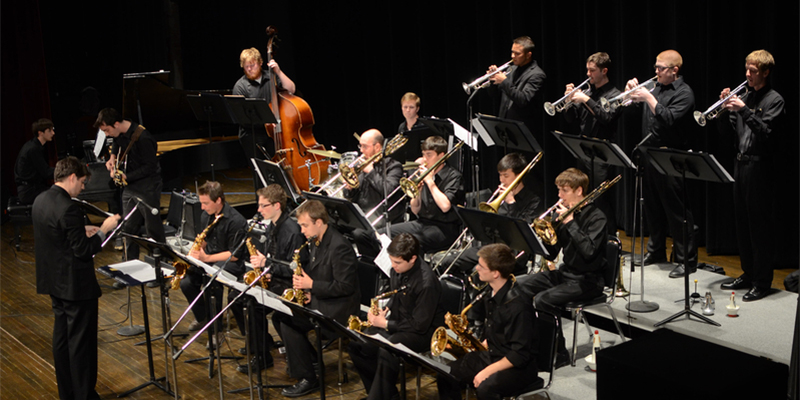 Jazz Ensemble in performance