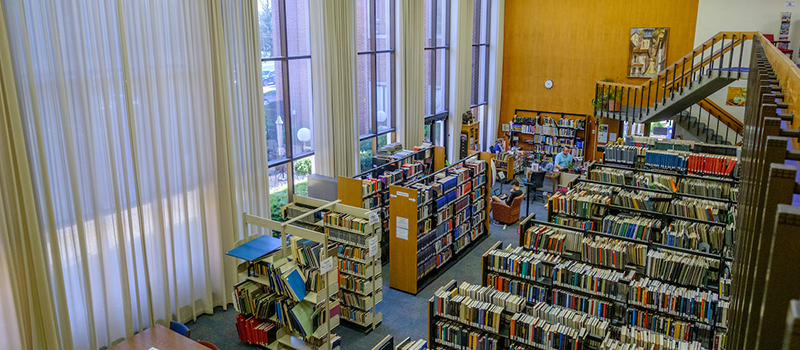 Interior of the Amos Music Library