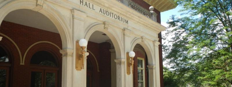 Exterior of Hall Auditorium