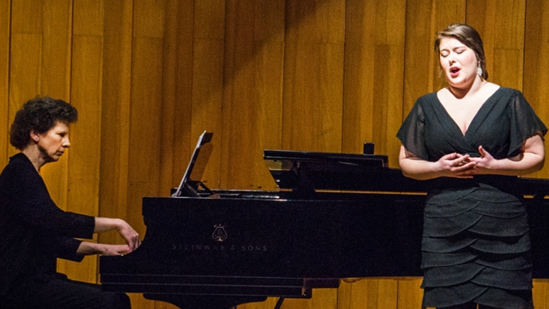 A pianist and vocal soloist in recital at Souers